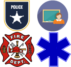 First responder and educator icon