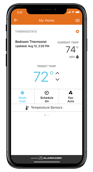 Smart home automation cell phone