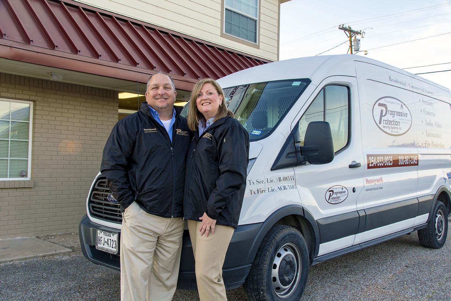 Eddie and Patsy Notgrass, owners of Progressive Protection Security Systems in Belton, Texas